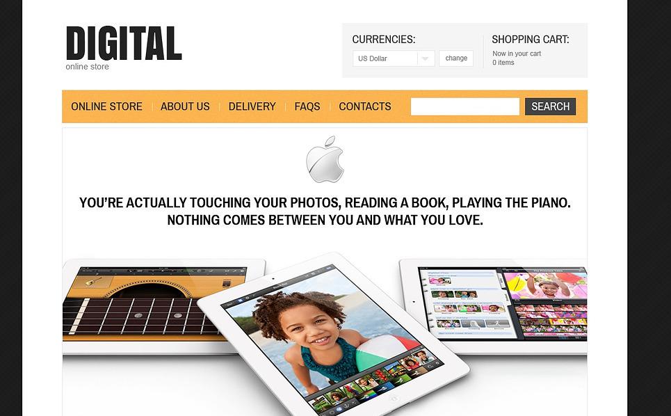 Plantilla VirtueMart #43005 para Sitio de Tienda de electrónica New Screenshots BIG