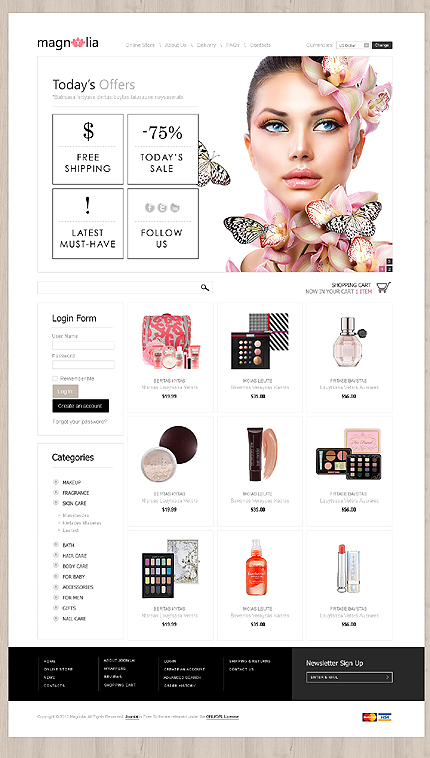 ADOBE Photoshop Template 43007 Home Page Screenshot