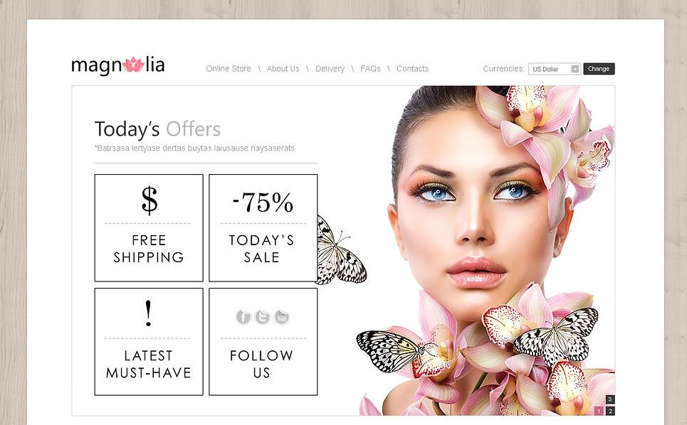Plantilla VirtueMart #43007 para Sitio de Tienda de cosméticos New Screenshots BIG