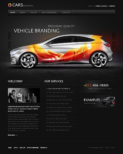 ADOBE Photoshop Template 43011 Home Page Screenshot