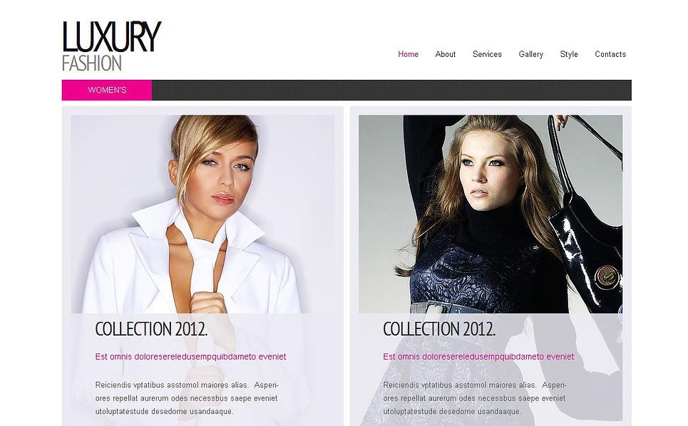 Template Moto CMS HTML para Sites de Moda №43015 New Screenshots BIG