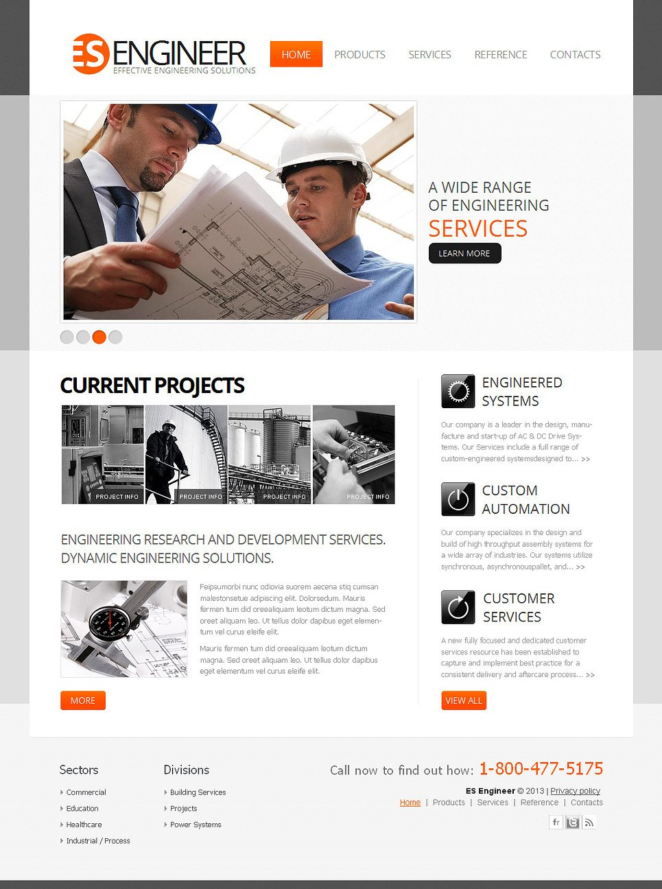 Engineering Website Template for Construction Companies - image
