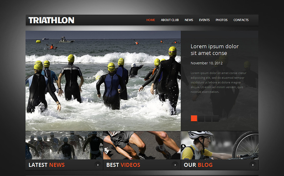 Premium Spor  Moto Cms Html Şablon New Screenshots BIG