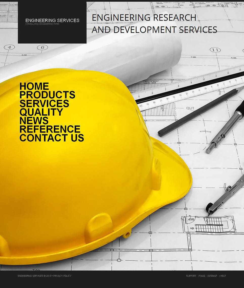 Consulting Engineering Firm Website Template - image