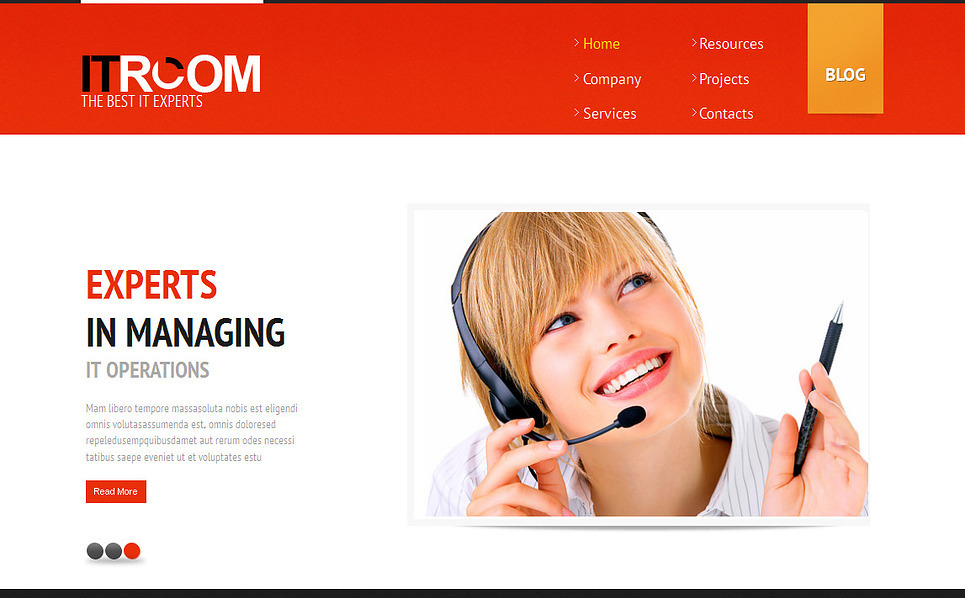 Premium Moto CMS HTML Template over IT  New Screenshots BIG