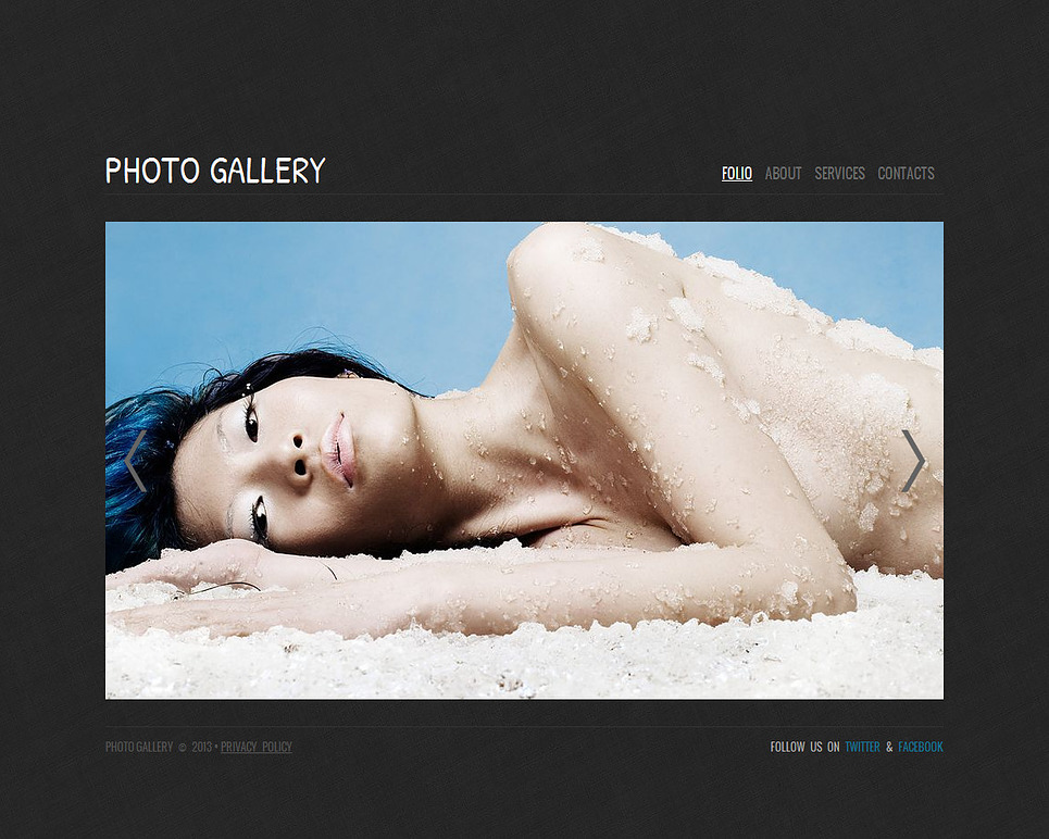 Minimal Photo Portfolio Website Template - image