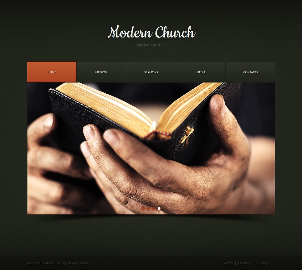 Dark-Colored Religious Website Template with Calendar - image