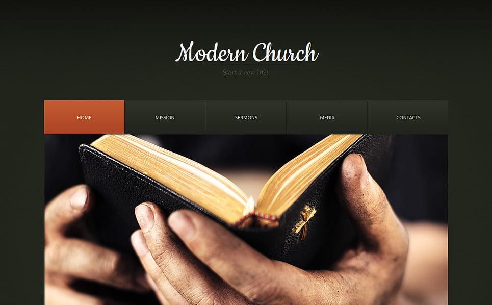 Modèle Moto CMS HTML  pour site religieux New Screenshots BIG