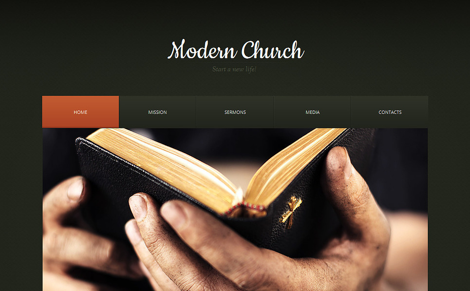Premium Moto CMS HTML Template over Godsdienstige  New Screenshots BIG