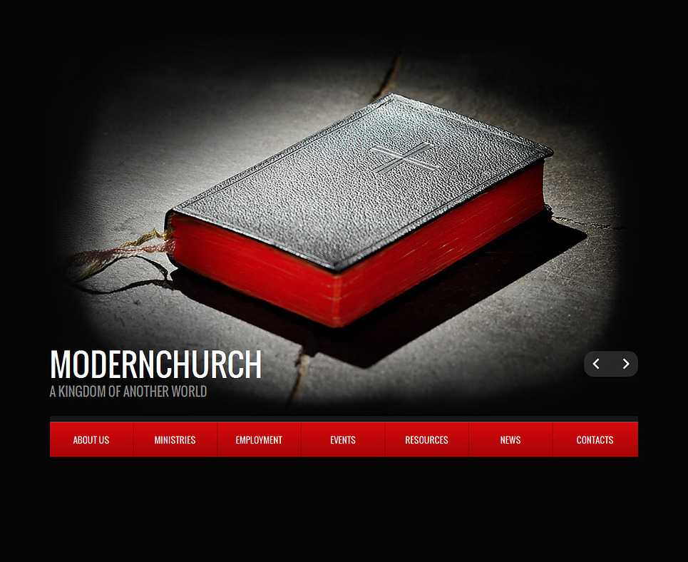 Modern Church Web Template with a Splash Page - image