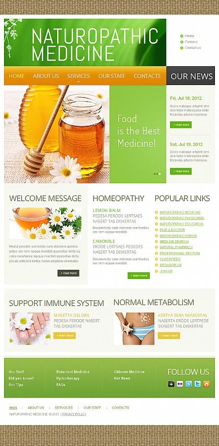 ADOBE Photoshop Template 43041 Home Page Screenshot