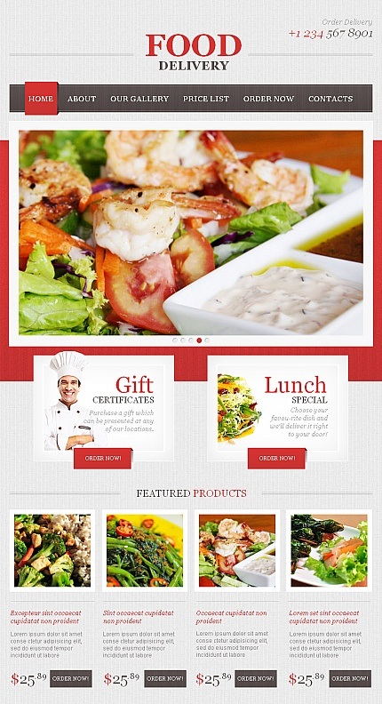 ADOBE Photoshop Template 43047 Home Page Screenshot