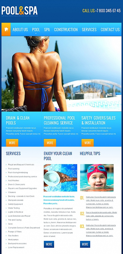 ADOBE Photoshop Template 43049 Home Page Screenshot