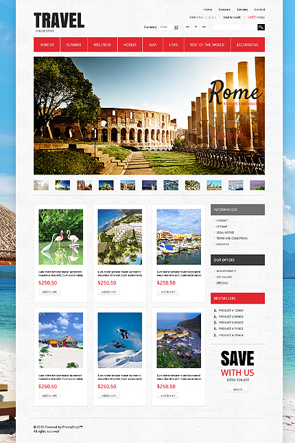 ADOBE Photoshop Template 43054 Home Page Screenshot