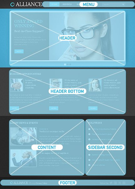 Drupal Template 43075 Main Page Screenshot