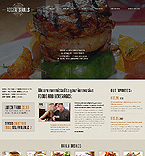 Cafe & Restaurant Website  Template 43076