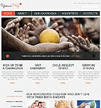 Charity Website  Template 43086