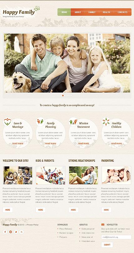 ADOBE Photoshop Template 43087 Home Page Screenshot
