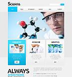 Science Website  Template 43090