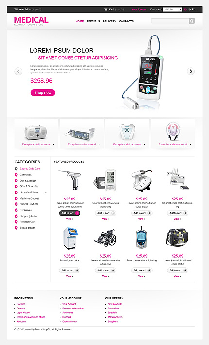 ADOBE Photoshop Template 43097 Home Page Screenshot