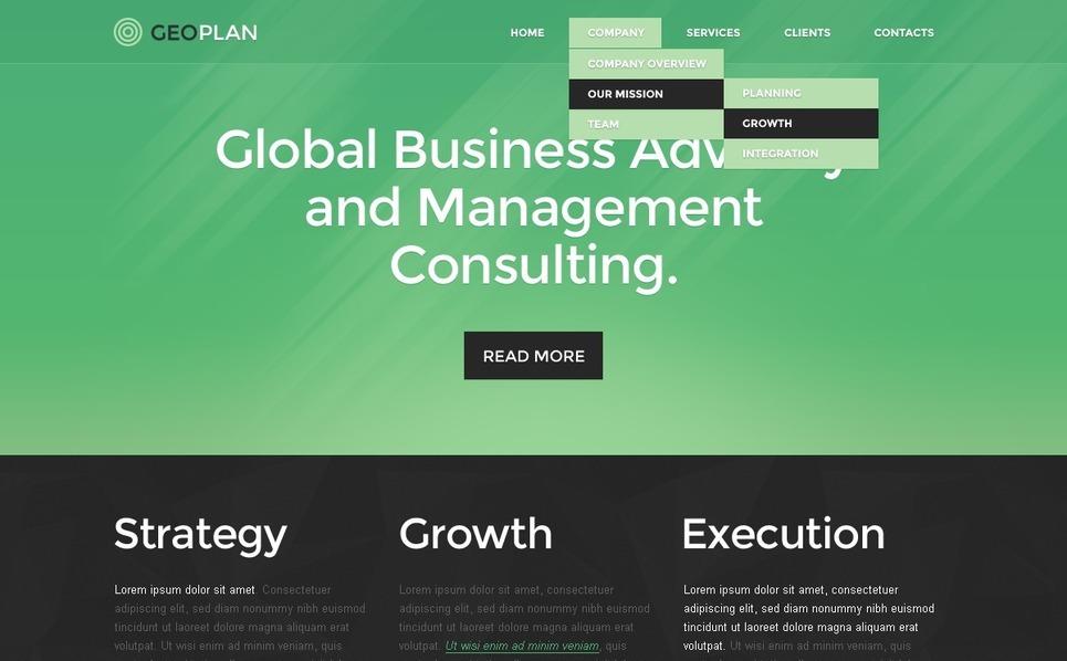 Responsive Website template over Beheermaatschappij  New Screenshots BIG