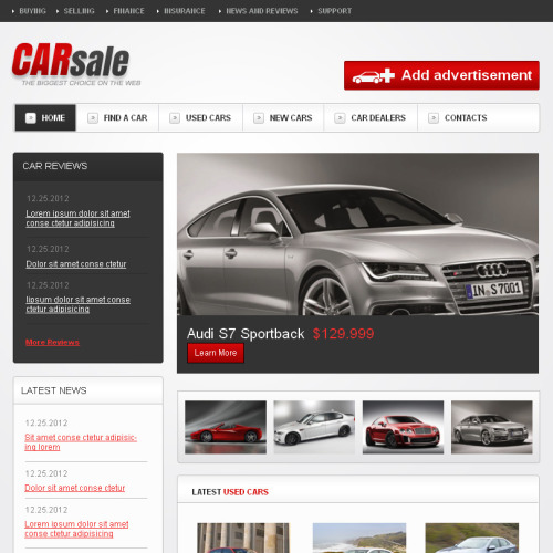 Car Sale - Facebook HTML CMS Template