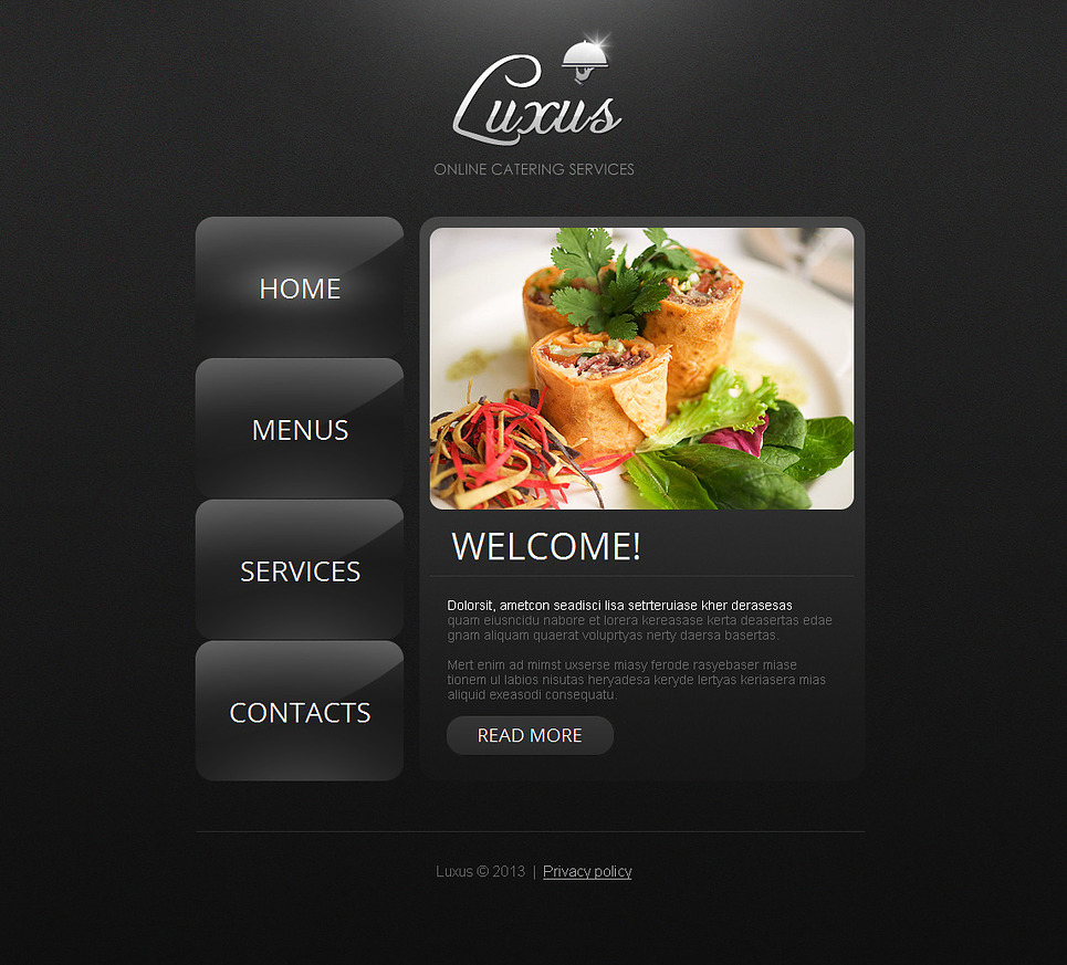 Catering Moto CMS HTML Template New Screenshots BIG