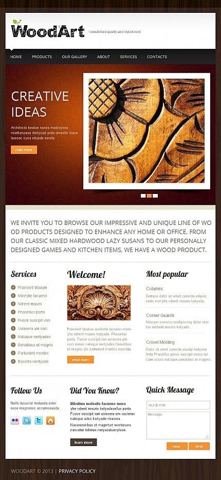 Crafts Facebook HTML CMS Template Facebook Screenshot