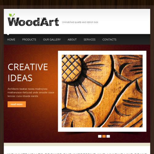 Wood Art - Facebook HTML CMS Template