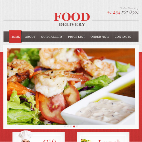 Food Delivery  - Facebook HTML CMS Template