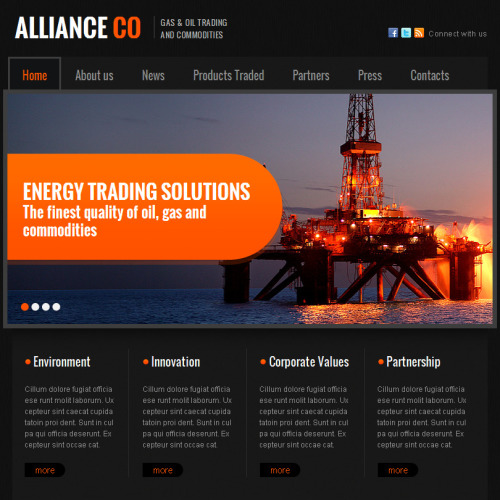 Alliance - Facebook HTML CMS Template