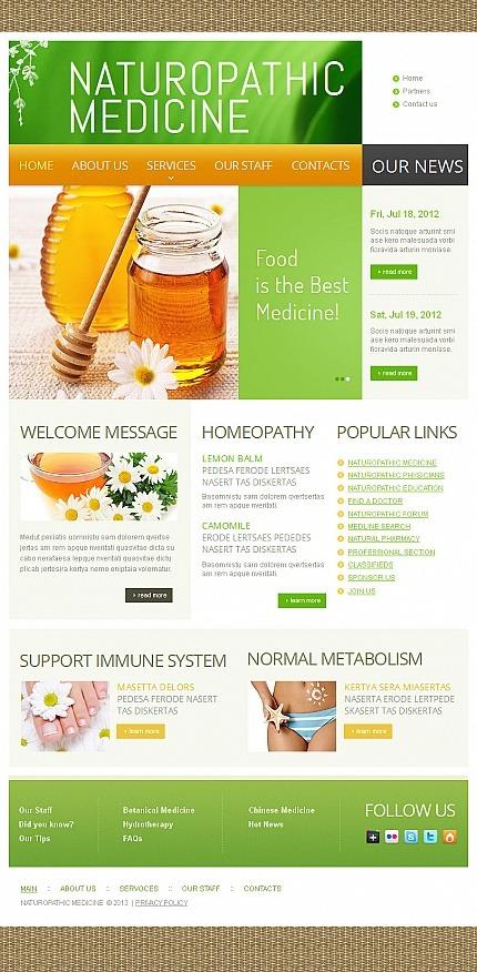 Herbal Facebook HTML CMS Template Facebook Screenshot
