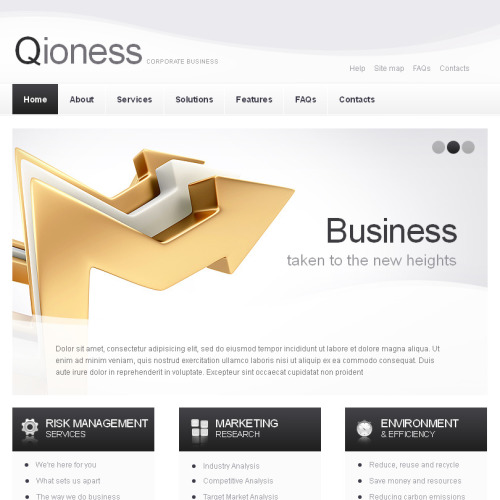 Qioness - Facebook HTML CMS Template