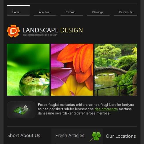 Landscape Design - Facebook HTML CMS Template