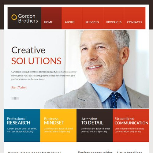 Gordon Brothers - Facebook HTML CMS Template