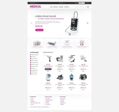 Medical Equipment PrestaShop Theme