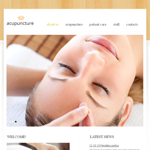 Acupuncture - Facebook HTML CMS Template