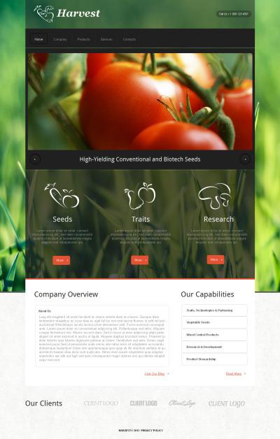 Agriculture MotoCMS HTML шаблон