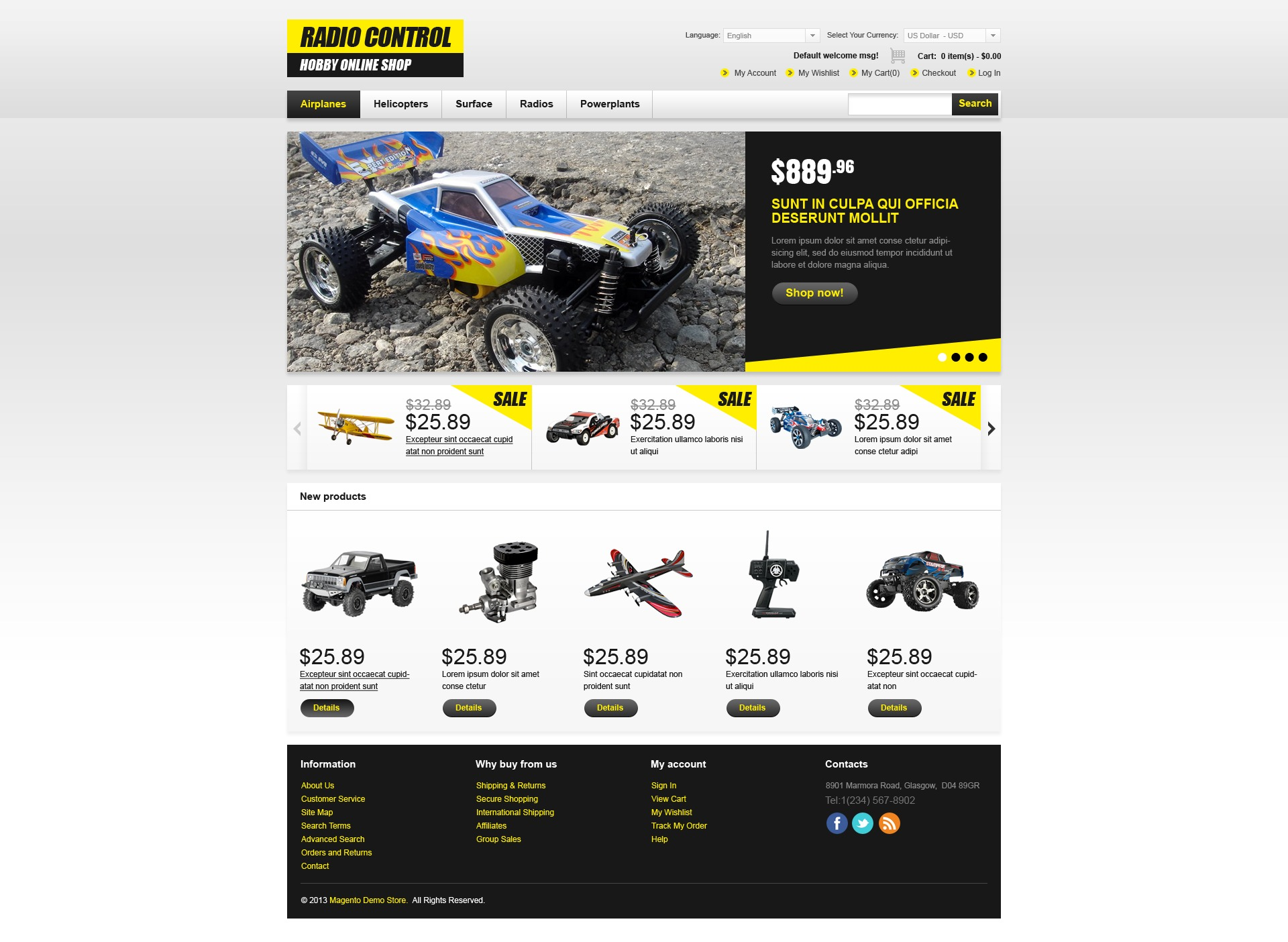 Online Hobby Shop Magento Theme #43059