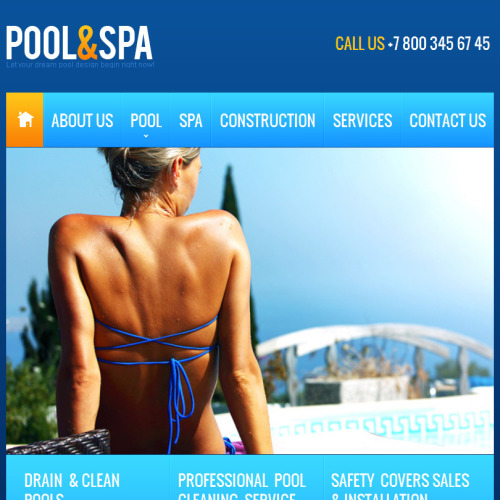 Pool & Spa - Facebook HTML CMS Template