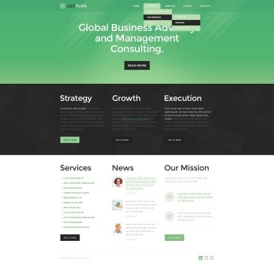 Management Company Responsive Šablona Webových Stránek