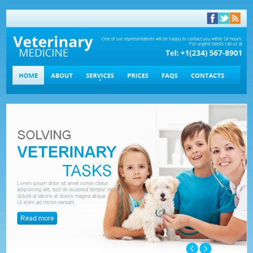 Veterinary - Facebook HTML CMS Template