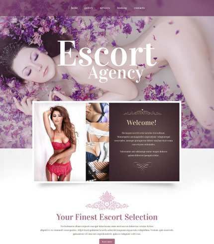 Escort Agency Website Theme