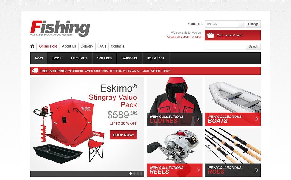 VirtueMart шаблон №43104 на тему  о рыбалке New Screenshots BIG