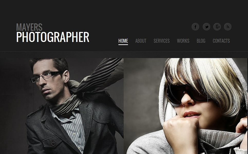 Modèle Moto CMS HTML  pour portfolio de photographe New Screenshots BIG