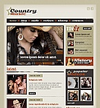 Music Moto CMS HTML  Template 43124