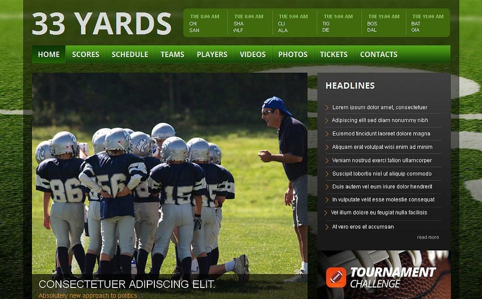 Modèle Moto CMS HTML  pour site de rugby New Screenshots BIG