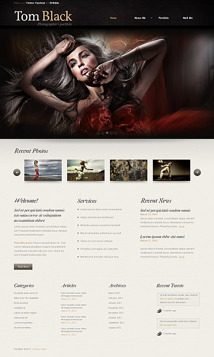 ADOBE Photoshop Template 43128 Home Page Screenshot