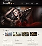Art & Photography Moto CMS HTML  Template 43128