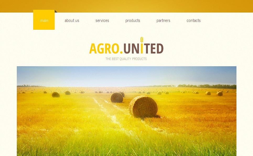 Template Moto CMS HTML  #43132 per Un Sito di Agricoltura New Screenshots BIG